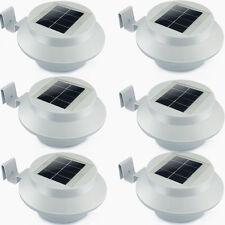 Set 6 Stück Solarlampe 3 LED Dachrinnen Außenlampe Leuchte Terasse Wandlampe DHL