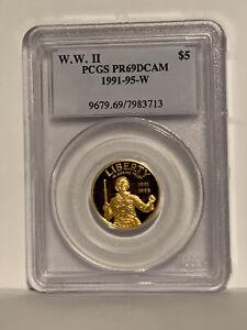 WW II PCGS PR69DCAM 1991-95 W Gold $5