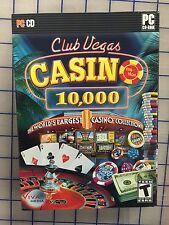 CLUB VEGAS CASINO 10,000 GAMES WINDOWS CDROM * BRAND NEW FACTORY SEALED RARE *