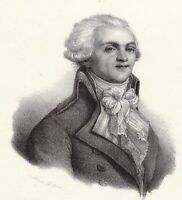 Lithographie XIXe Maximilien de Robespierre Révolution Française Arras 1833