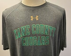Under Armour Loose Heat Gear Kane County Cougars Men's Shirt Size XL ~ Used