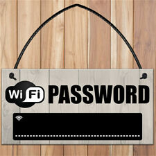 Wifi Password Chalkboard Housewarming Gift Hanging Plaque Home Internet Sign