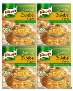 Knorr ONION Soup Mix, 4 x 46g 3 Portion Packs, with Roast Onion Pieces, 4x 750ml