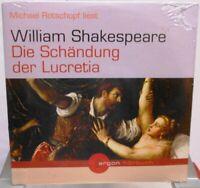 William Shakespeare + Die Schändung der Lucretia + Hörbuch auf 2 CDs +