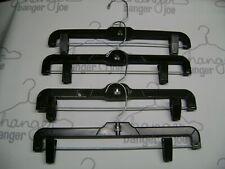 "Hangers 14"" Silver Black Pant Skirt Pinch Grip Adjustable Plastic Set 70"