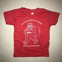 kids what in the world is in that bag christmas t shirt funny cute boys girls