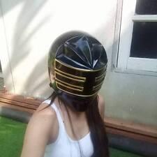 Gold Zeo King Ranger Black Wearable MMPR Helmet Power Ranger  Cosplay Costume