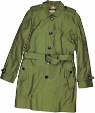 BURBERRY LONDON ASPARAGUS COTTON TRENCH COAT- SIZE 48/38- MADE IN ENGLAND