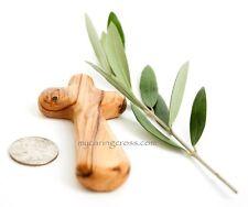 25 Comfort Crosses Medium Olive Wood Pocket Clinging Palm Prayer Cross Gift Lot