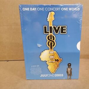 Live 8 July 2nd 2005 - New And Sealed (4 x DVD Set 10 Hours of Music) (L33)