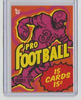 2018 Topps 80th Anniversary Wrapper Art Card #30 1973 PRO FOOTBALL From Set #10