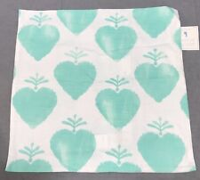 "Pottery Barn Kids Aqua Watercolor Heart 20"" Pillow Cover"