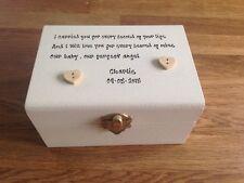 Shabby Personalised Chic Memory Box Baby In Memoriam Memorial For Baby Sentiment