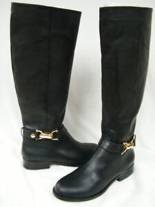 Bebe Shoes boots black Riding Serena 184514 size 5