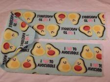 Avocado I Love to Avocuddle Fleece Scarf Perfect for Avocado Lovers