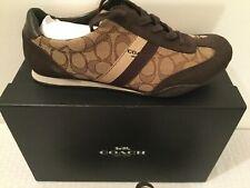 Coach Signature Sneakers 9.5M NIB Brown-Khaki