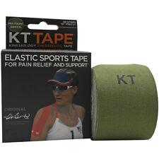 """Kt Tape X Forza спортивный Хлопок 10"""" листовых спорт лента, 20 полоски, военные зеленые"""