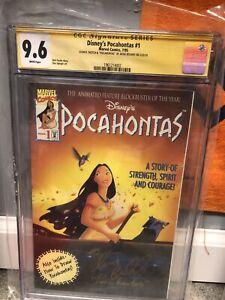 Pocahontas #1 (Marvel) CGC 9.6 Signed Irene Bedard, Disney Voice Actress