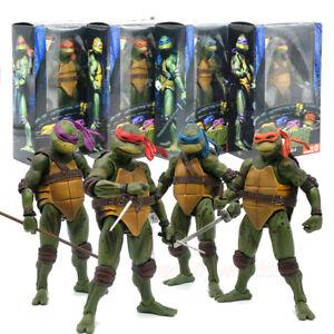 """NECA Teenage Mutant Ninja Turtles 7"""" Action Figure Statue Model Toy 1990 Movie i"""