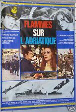 AFFICHE ANCIENNE FILM 1968 FILM FLAMMES SUR L ADRIATIQUE