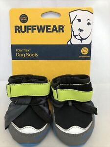 """Ruffwear Polar Trex Winter Dog Boots 2.5"""" 64mm Obsidian Black Blue 2 Boots New"""