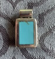 ATI STERLING SILVER & TURQUOISE PENDANT SLIDE