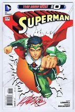 Superman #0 VFNM Signed w/COA Kenneth Rocafort 2012 New 52 DC Comics PWC