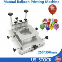 Commercial Balloon Screen Printing Machine Manual Latex Printer Balloon Printer