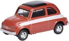 Schuco 26272 Fiat 500 Red White Stripe 1/87 H0 Scale in Case T48 Post