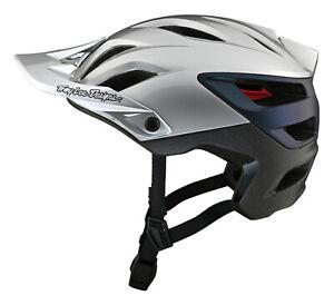 Troy Lee Designs A3 MIPS MTB Bicycle Helmet UNO - Silver / Elecrtro