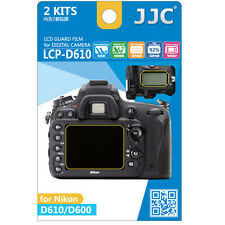 JJC LCP-D610 hard polycarbonate LCD Film Screen Protector Nikon D610 D600 2 Pack