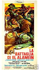 locandina film LA BATTAGLIA EL ALAMEIN Giorgio Ferroni George Hilton 1969