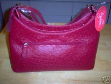 Bingham Designer Red Leatherette Handbag NWT
