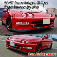 Si-Vtec Style Front Bumper Lip (Urethane) Fits 94-97 Acura Integra 4dr