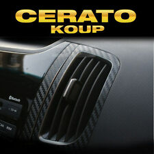 Interior Air Vents Carbon Decals Sticker Black 2P For KIA 2010-2013 Cerato Koup