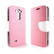 CoverON® For LG G3 Vigor Wallet Case Light Pink & White Credit Card Folio Cover