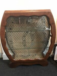 Vintage Art Deco Retro Style Glass Front Display Cabinet Show Case