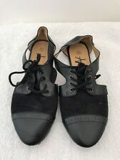 Atmosphere Black Shoes Size 4 Lace Up Workwear Formal <JJ895