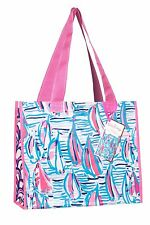 LILLY PULITZER Market Bag RED RIGHT RETURN Sailboat Recyclable ECO Shopper Tote