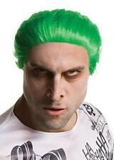 Mens Suicide Squad Joker Wig Adult Fancy Dress Accessory Halloween Film Villain