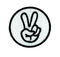 Patch ecusson brode backpack salut peace biker moto thermocollant motard vintage