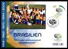 Fußball. WM-2006, Deutschland. FDC(2). Brasilien 2006