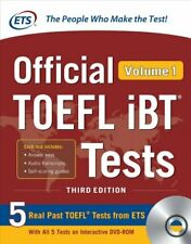 Official TOEFL iBT Tests Volume 1, Third Edition 9781260441000 | Brand New