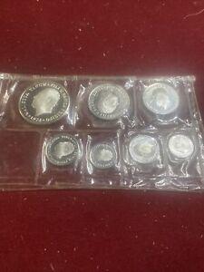 RARE 1974 Western Samoa 7 Coin Silver Proof Set Very Rare