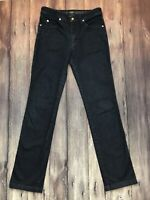 Armani Collezioni Women's Slim Straight Leg Jeans Size 29 Dark Blue Stretch