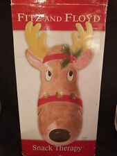 Fitz And Floyd 2005 Snack Therapy Reindeer Server In Original Box