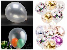 "50pcs 10"" Transparent Clear Latex Balloons Birthday Wedding Party Decor baloons"