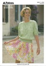 Knitting pattern ladies short sleeved top in double knitting