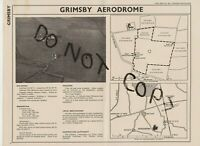GRIMSBY AIRPORT AERODROME MAP 1938
