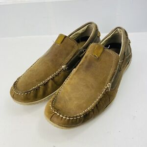 Skechers Mens Brown Leather Loafers Size 11.5